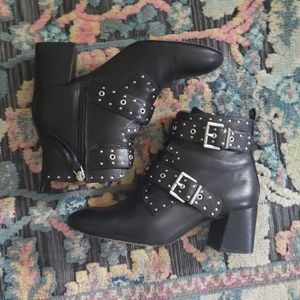 Rebecca Minkoff Black Leather Studded Boots